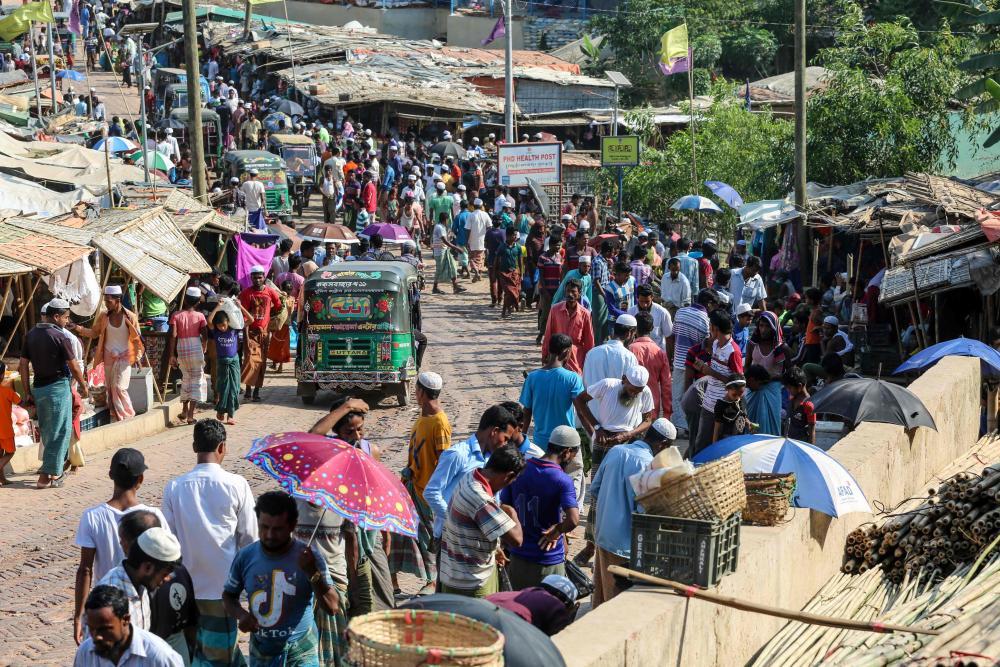 The Kutupalong refugee camp in Cox's Bazar, Bangladesh