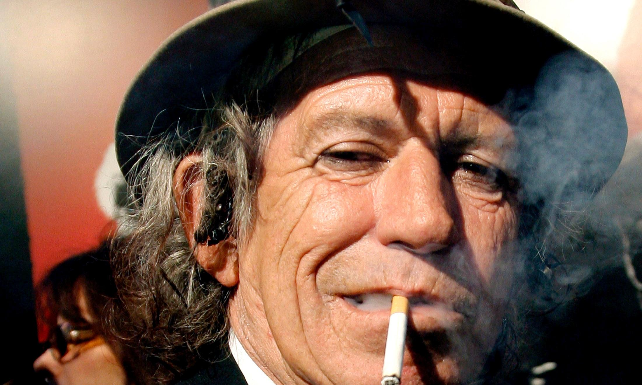 Keith Richards gives up drinking (almost), saying 'I got fed up with it'