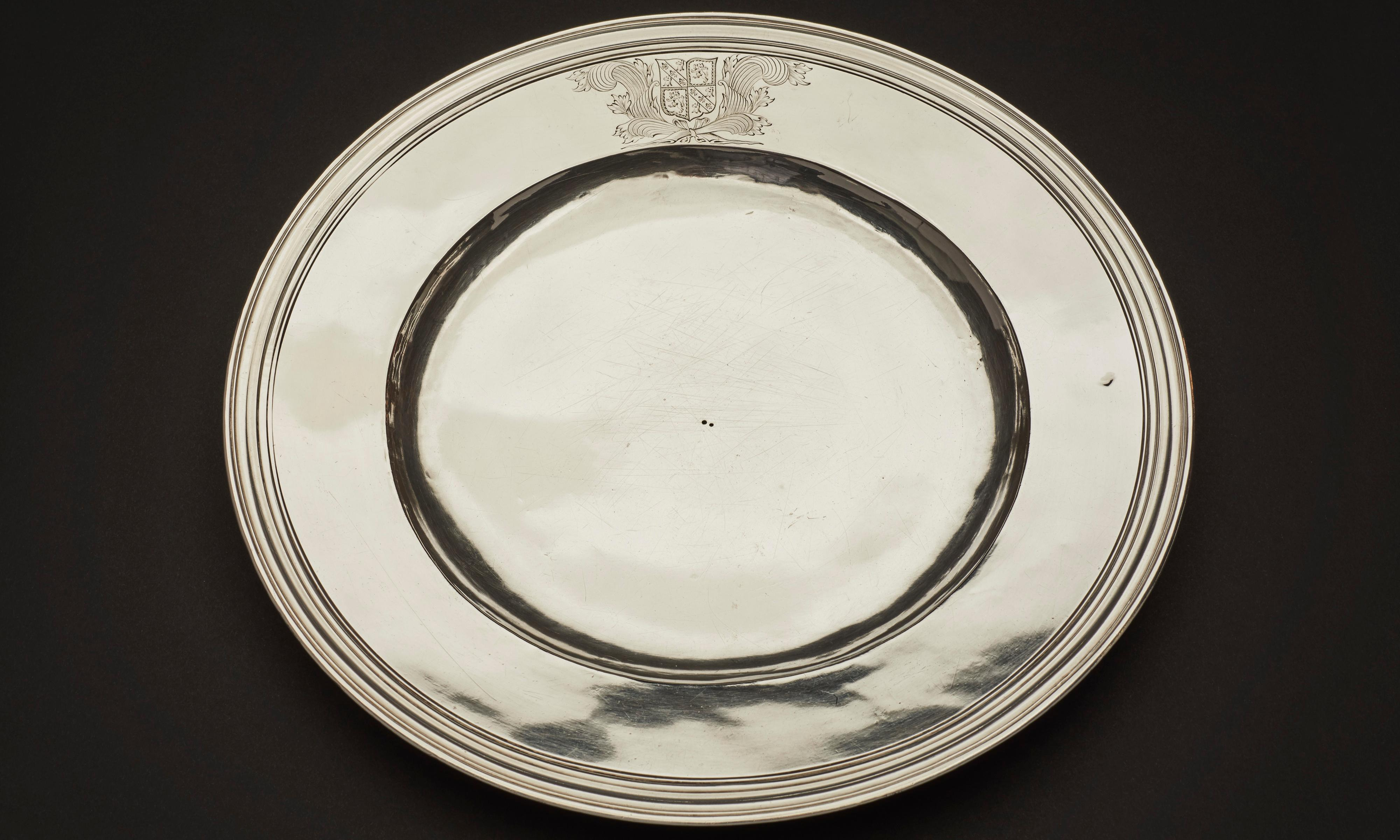 Silver plate found to belong to 17th century diarist Samuel Pepys