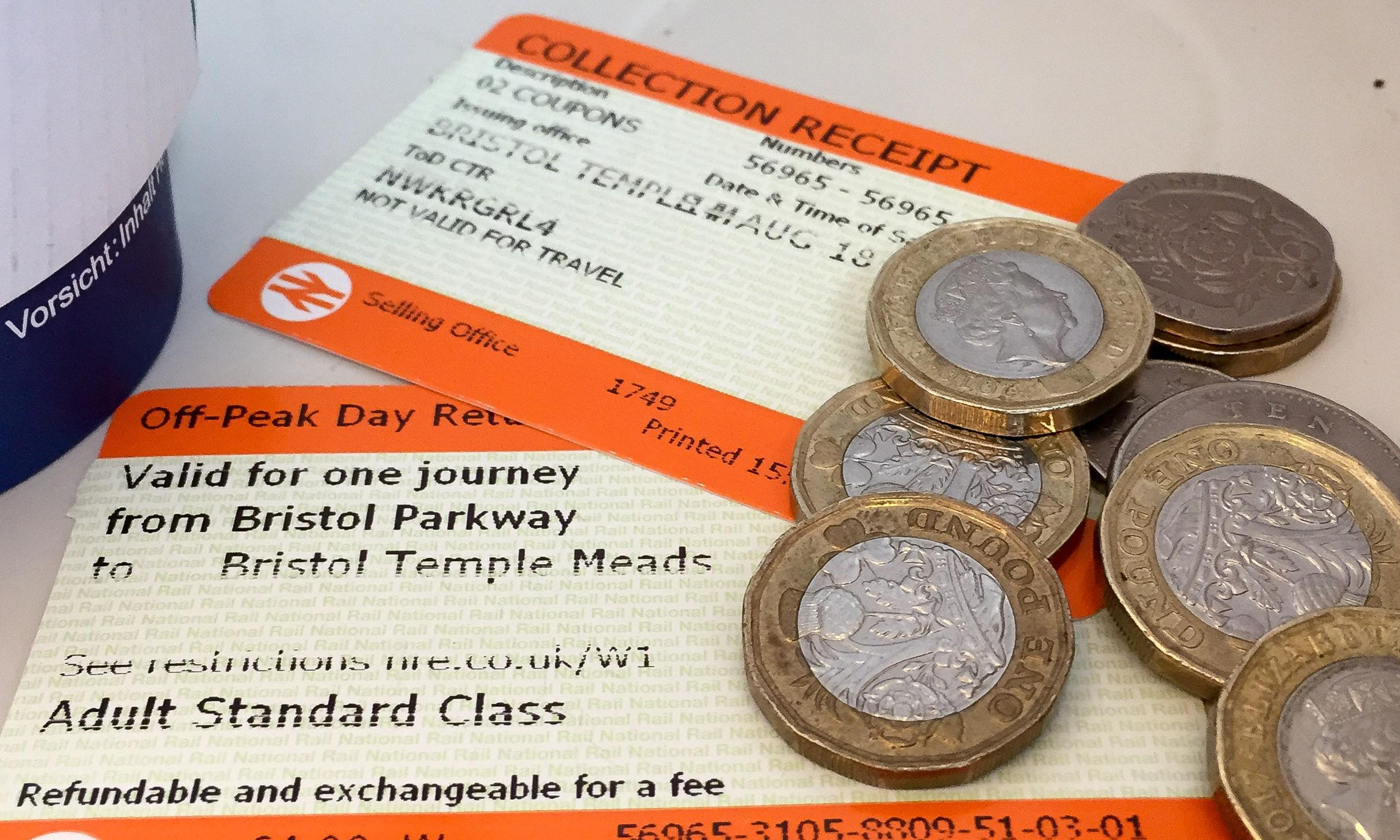 Rail fares to rise by 2.8% in January
