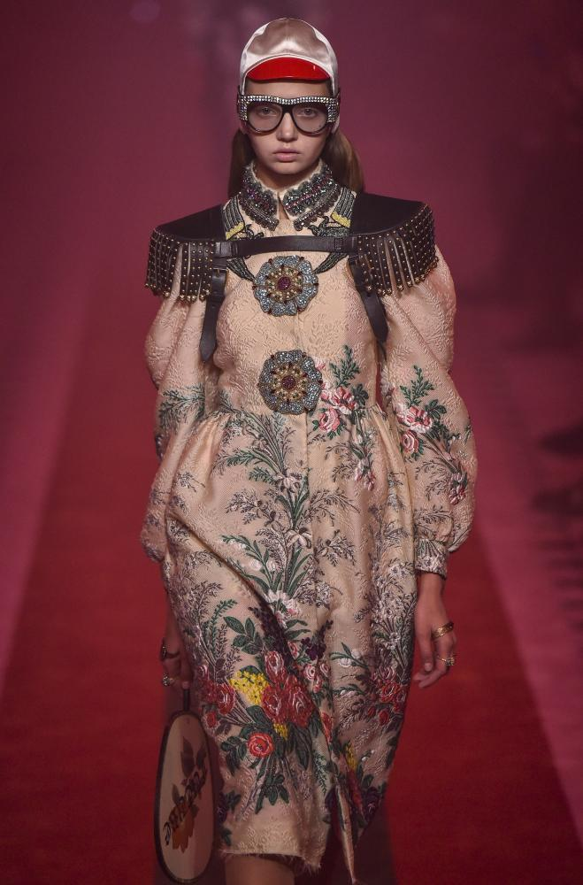 Gucci spring-summer show at Milan fashion week.