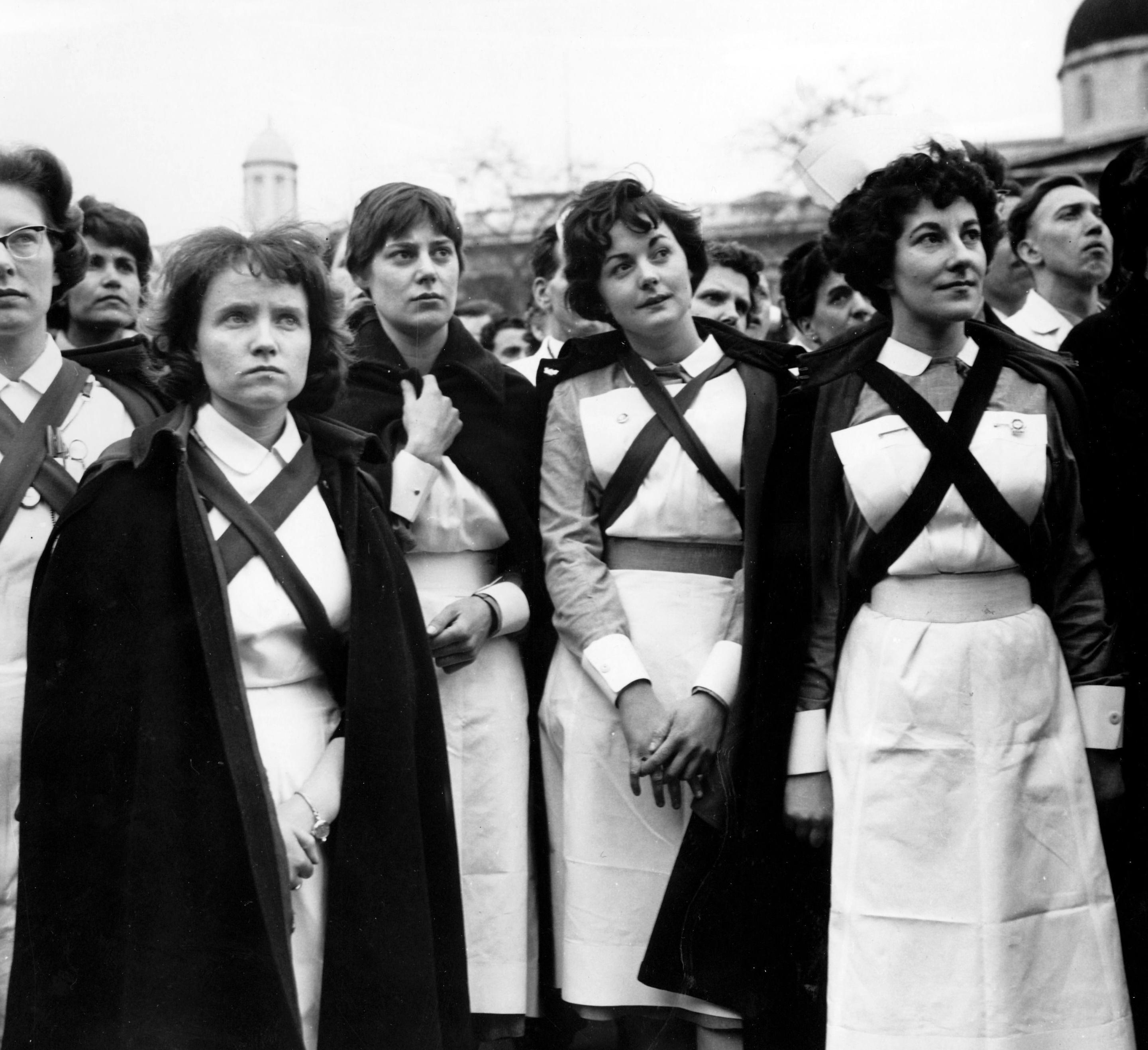 Observer archive: nurses pay protest, 28 April 1962