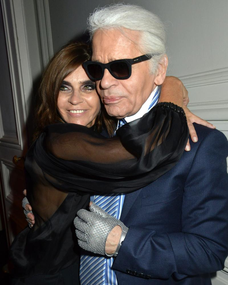 Karl Lagerfeld and Carine Roitfeld in 2013.