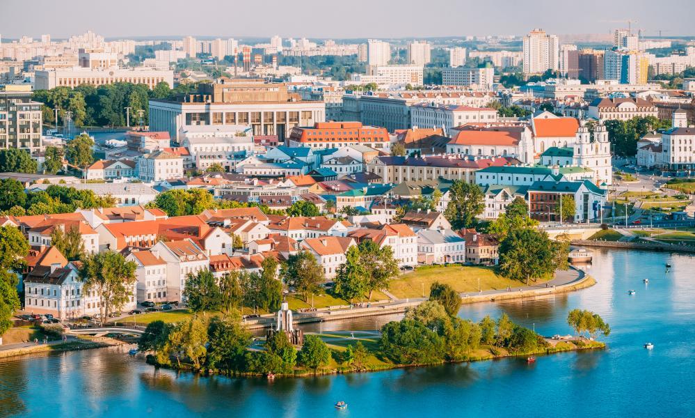 Minsk, capital of Belarus.