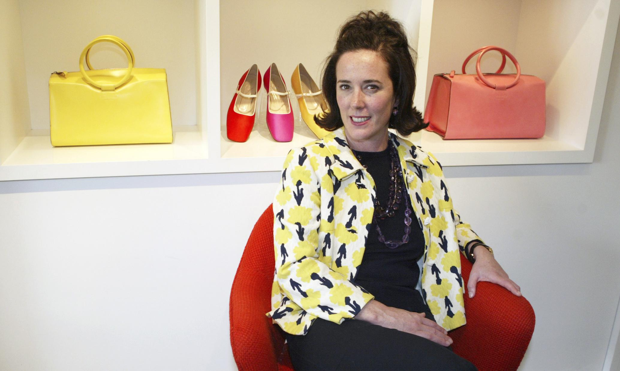 Kate Spade's designs conveyed happiness and sunshine. How sad to learn her life was quite different