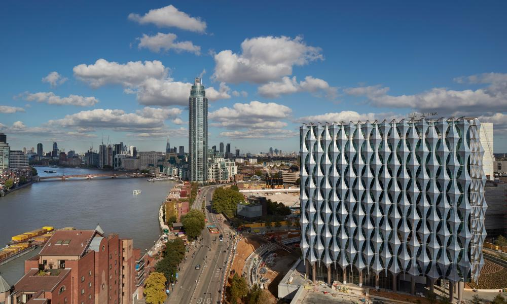 A view of the new US embassy in London.