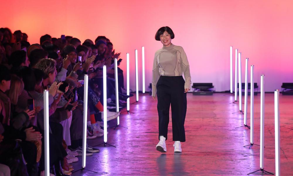 Feng Chen Wang at London fashion week men, January 2020