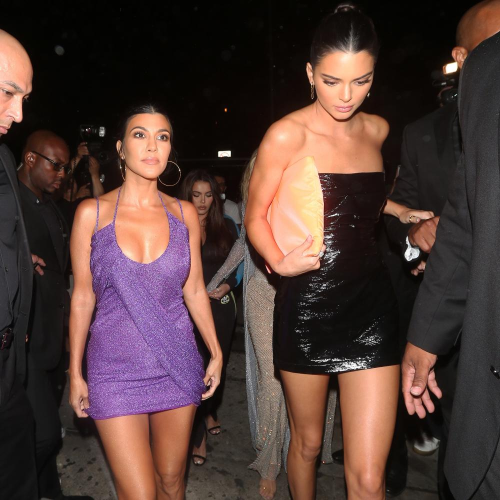 Kourtney and Khloe Kardashian: the look is 'sexy but intercahngeable'.