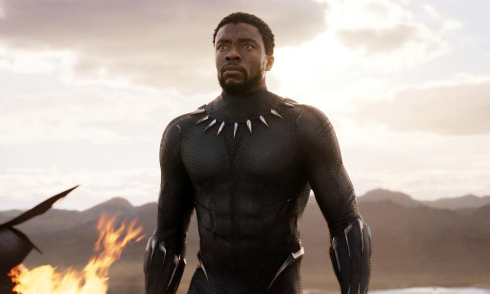 Chadwick Boseman in a scene from Black Panther