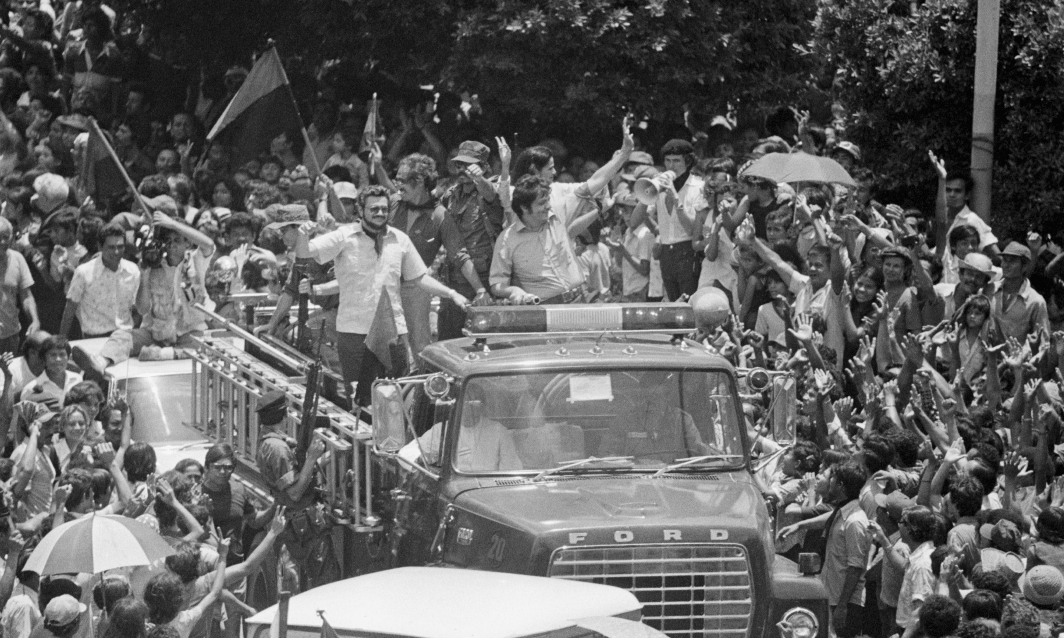 Nicaraguans jubilant after Somoza resignation - archive, 1979