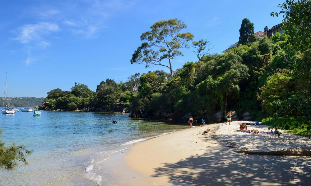 Hermit Bay, part of the Hermitage Foreshore Walk, in Vaucluse, an eastern suburb of Sydney, New South Wales, Australia