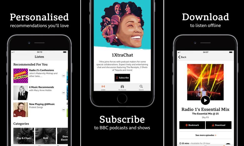 BBC Sounds app.