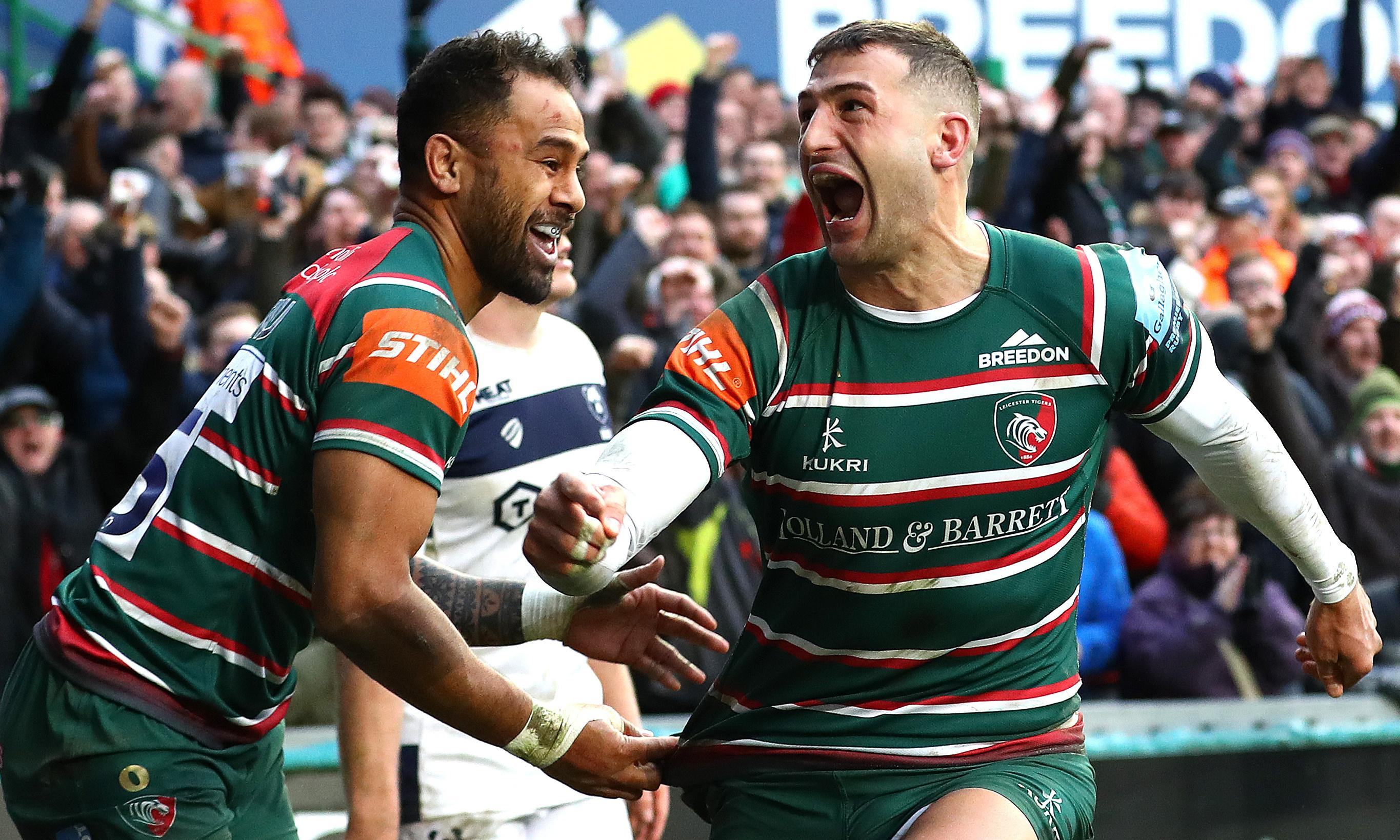 Jonny May double helps Leicester ease relegation fears with win over Bristol