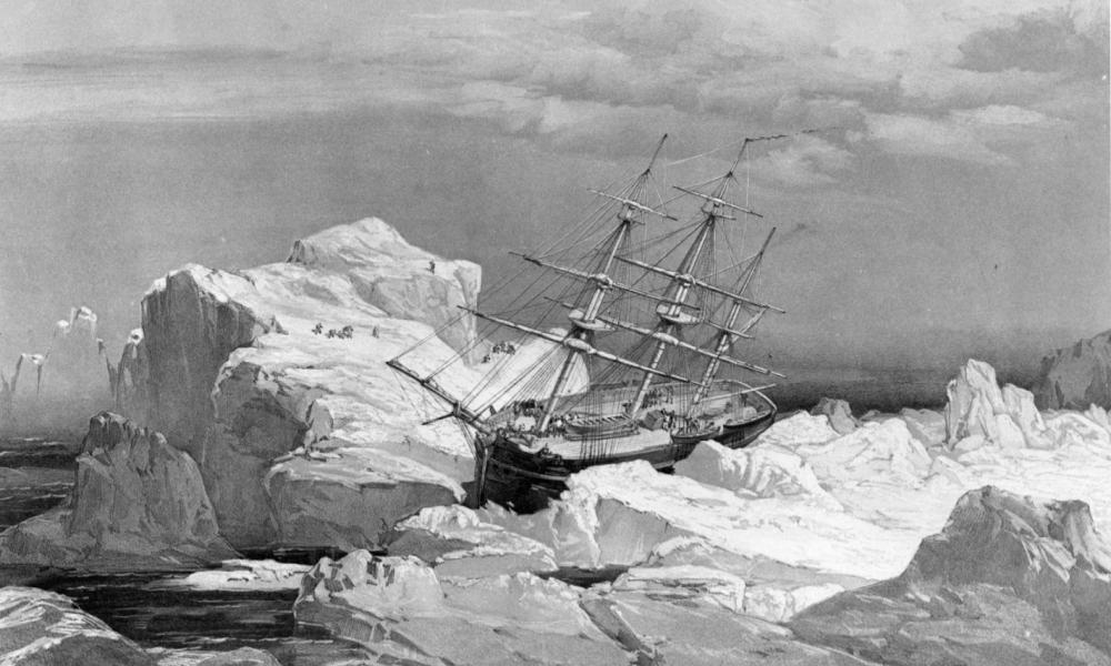 HMS Investigator on Bank Island, 1851