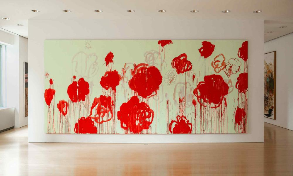 Work by Cy Twombly.
