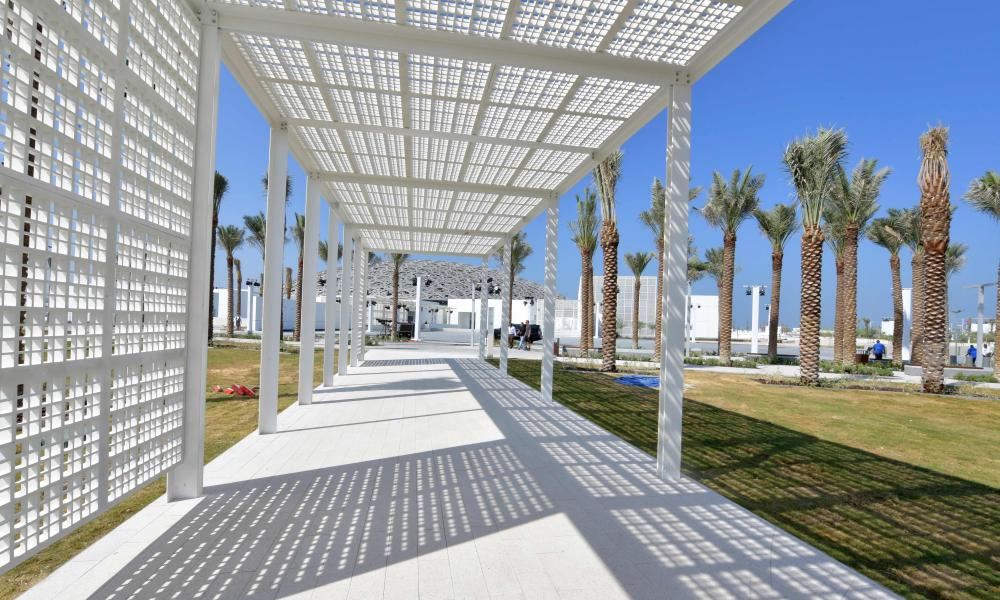 'Between an Arab medina and a Greek agora' … outdoor section of the Gulf outpost.