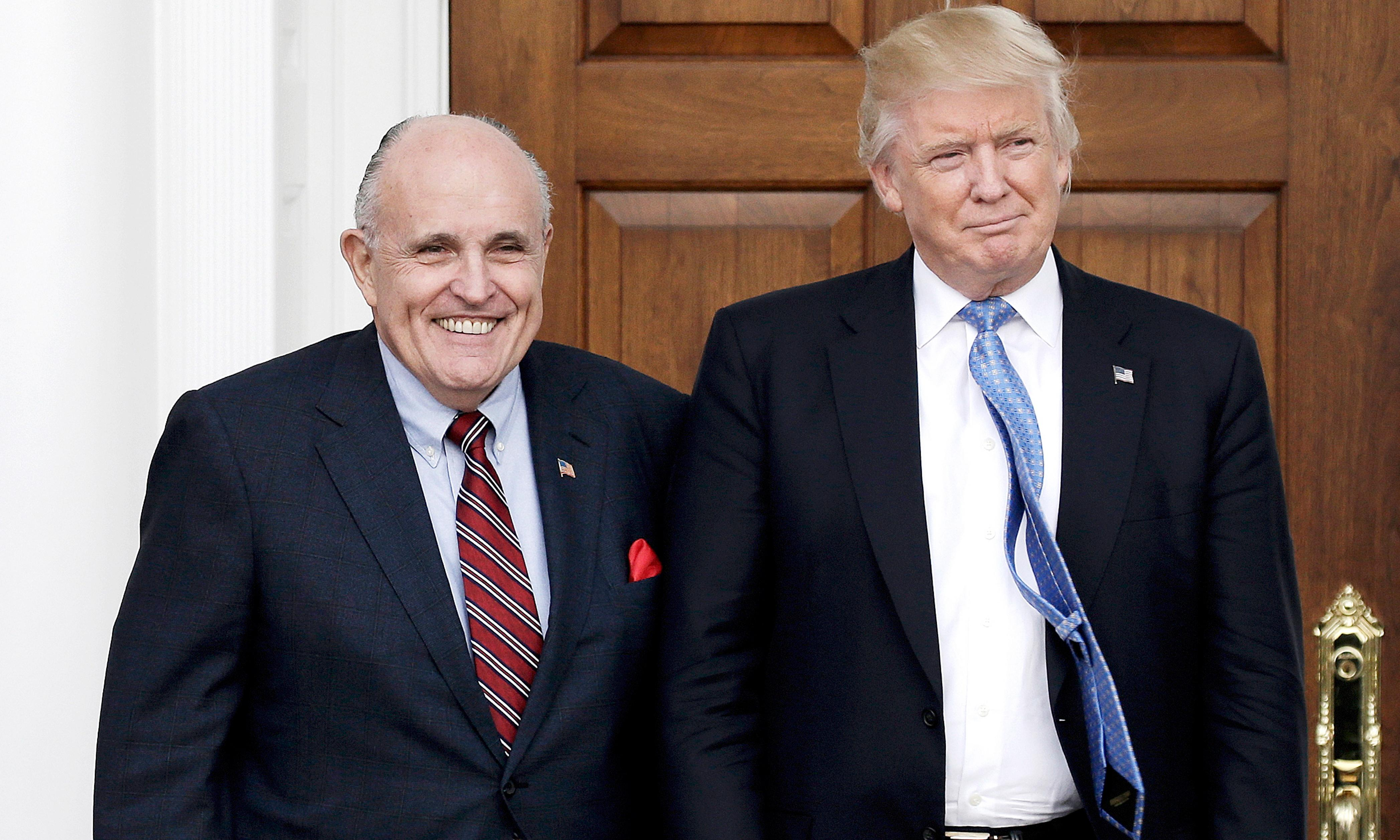 Rudy Giuliani says Trump will stay loyal to him but jokes that he has 'insurance'