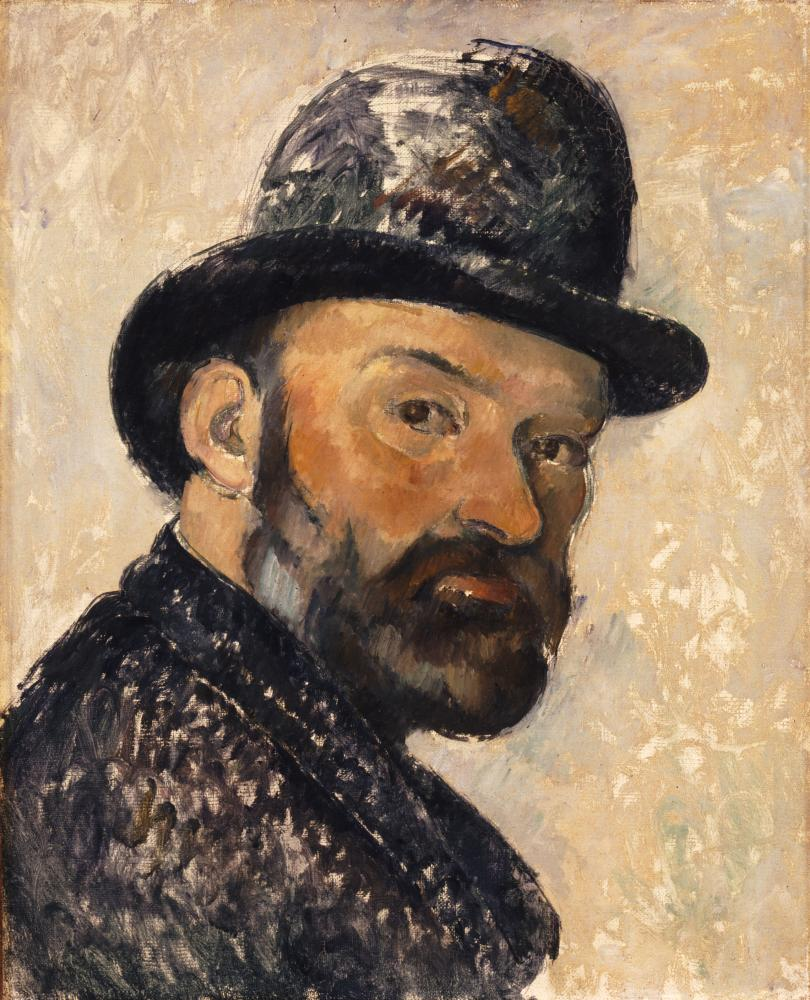 Paul Cézanne, self-portrait in a bowler hat (1892), at the National Portrait Gallery.