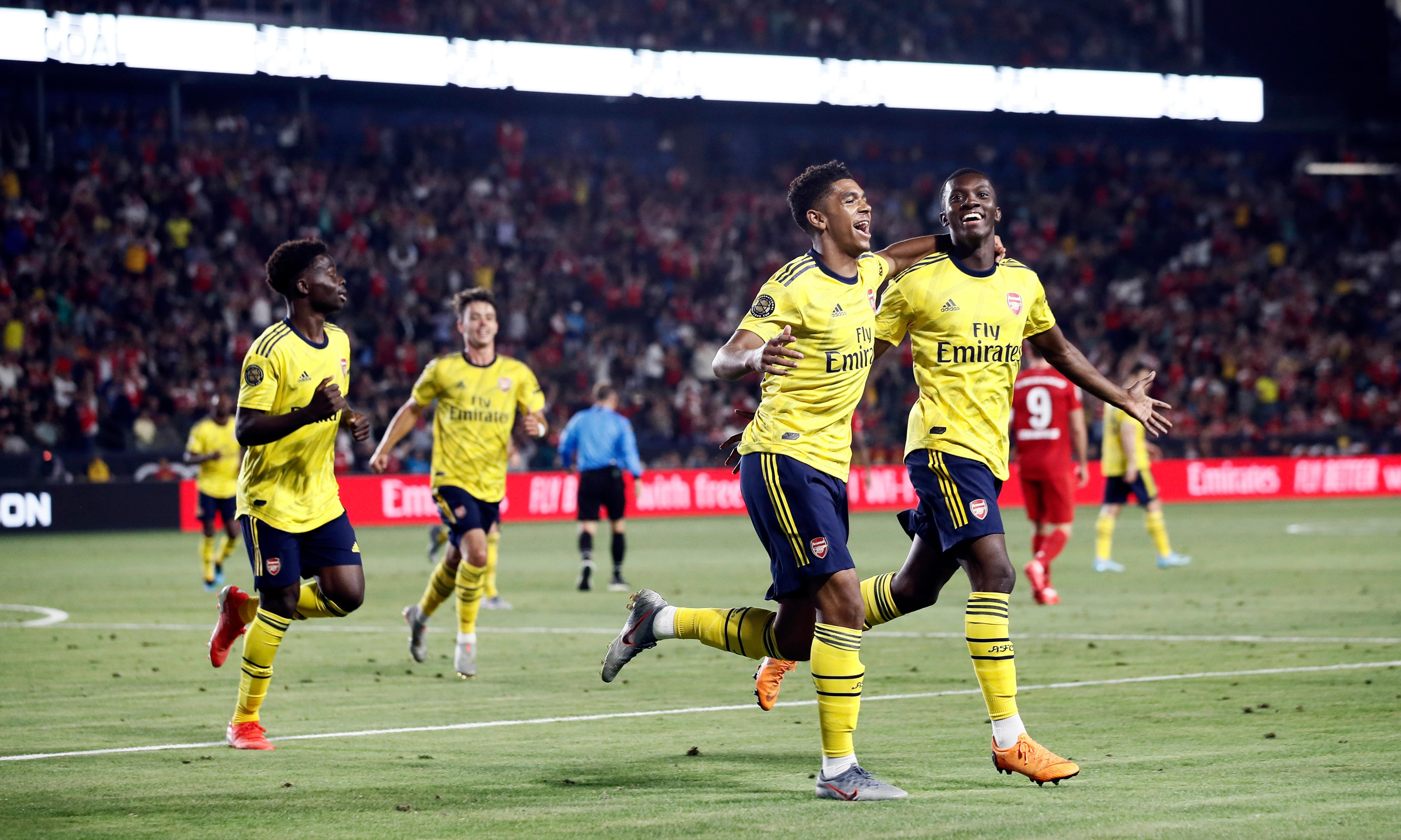 Emery excited by Arsenal youngsters after Nketiah cuts down Bayern Munich