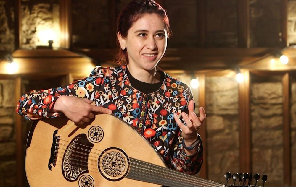 Oud player Rihab Azar at the East Neuk festival.