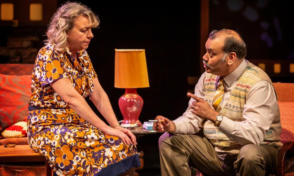 Sophie Stanton and Tony Jayawardena as Ella and George Khan.