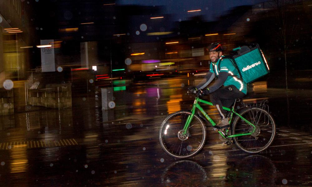 Deliveroo claims it's possible for a rider to earn £120 a day.
