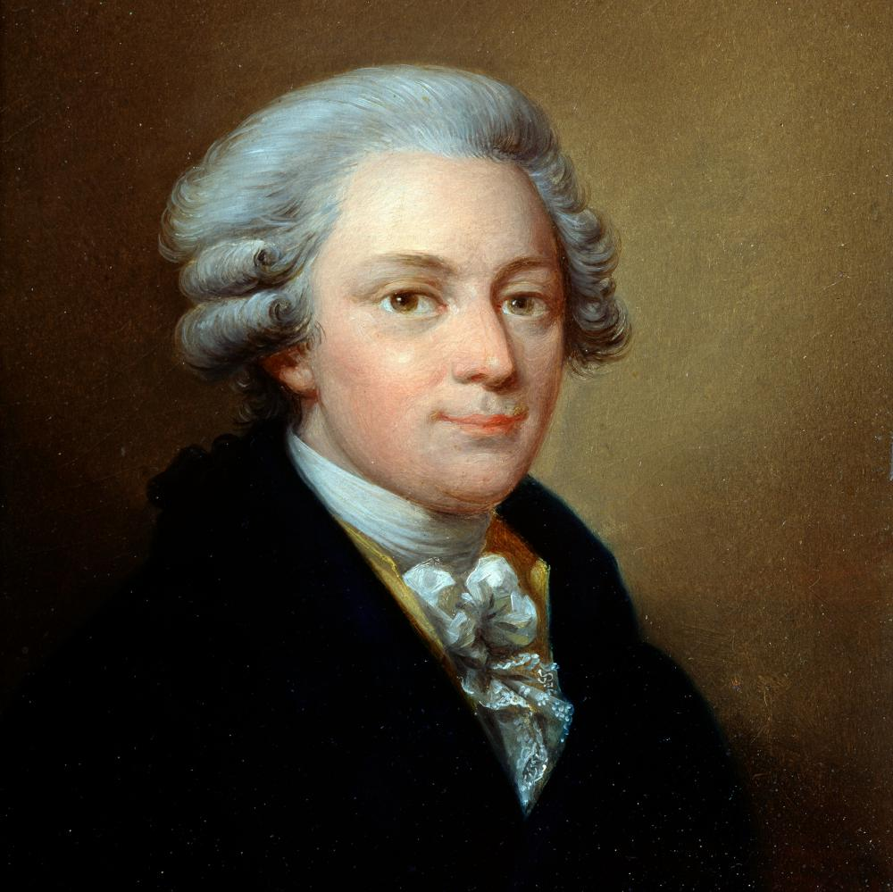 Portrait of Wolfgang Amadeus Mozart, c1783, by Jozef Grassi.