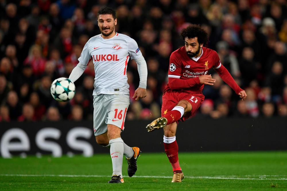 Salah has a pop.