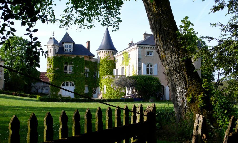 Exterior of St Victor La Grand' Maison, Loire Valley, France.