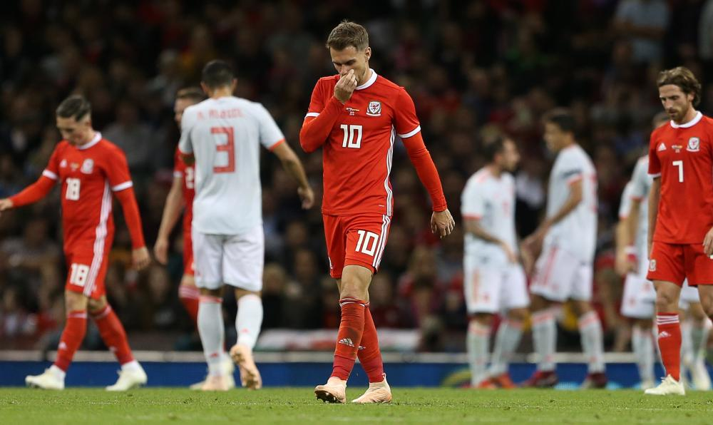 A tough half for Aaron Ramsey and Wales.