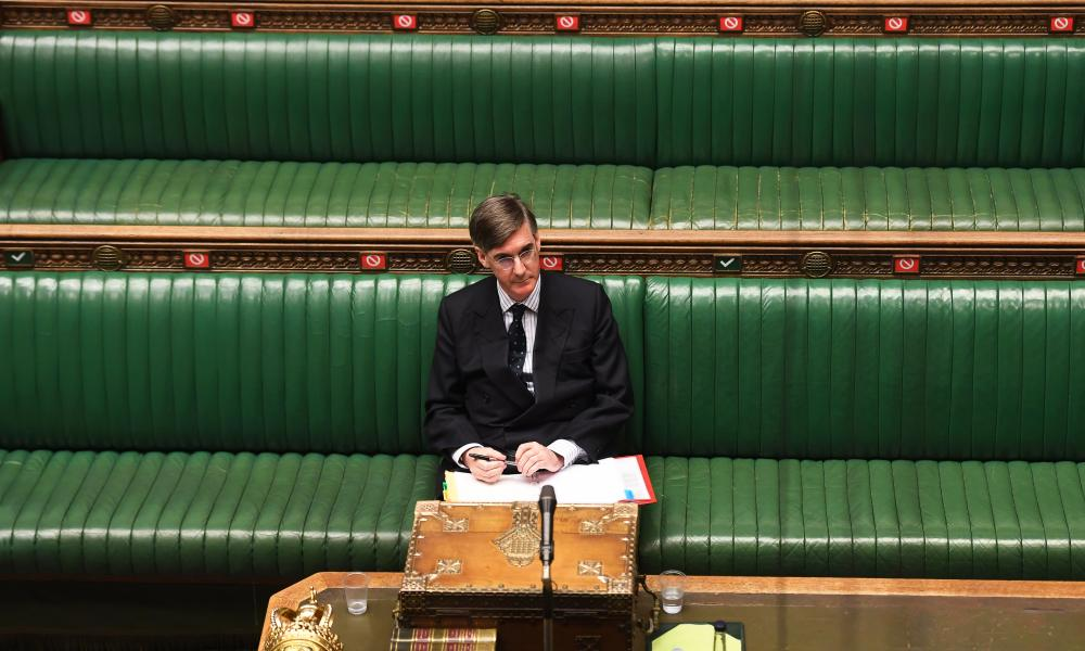 Jacob Rees-Mogg in the Commons last month.