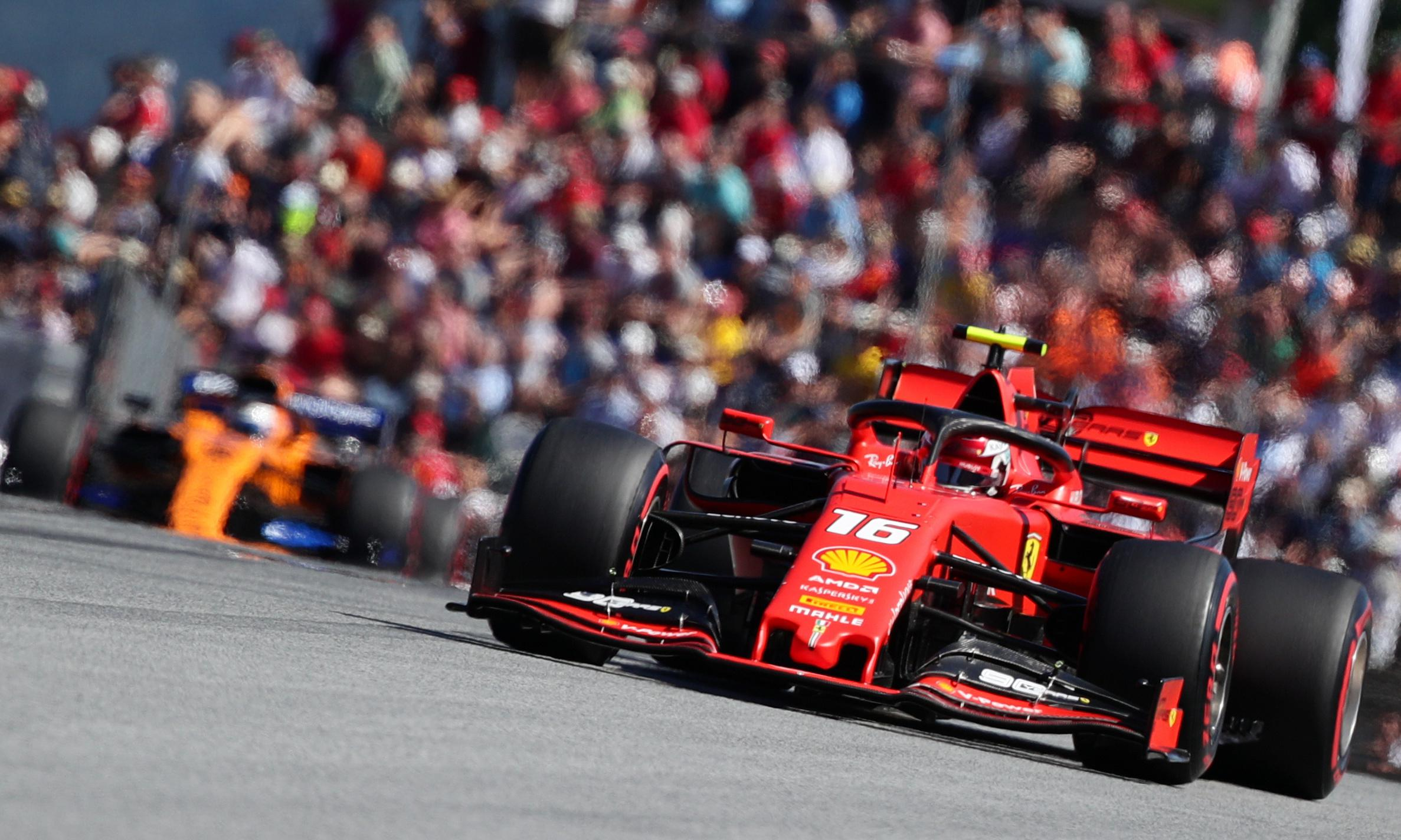 Charles Leclerc powers to Austria pole as Lewis Hamilton hit by grid penalty