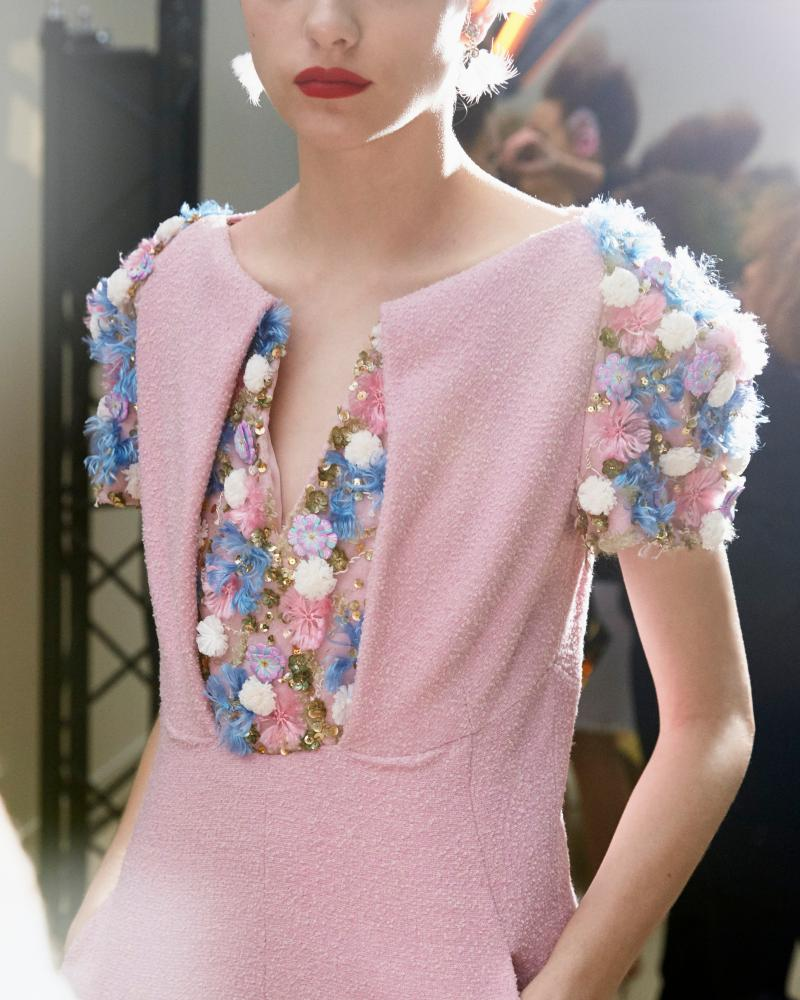 A model at Chanel.