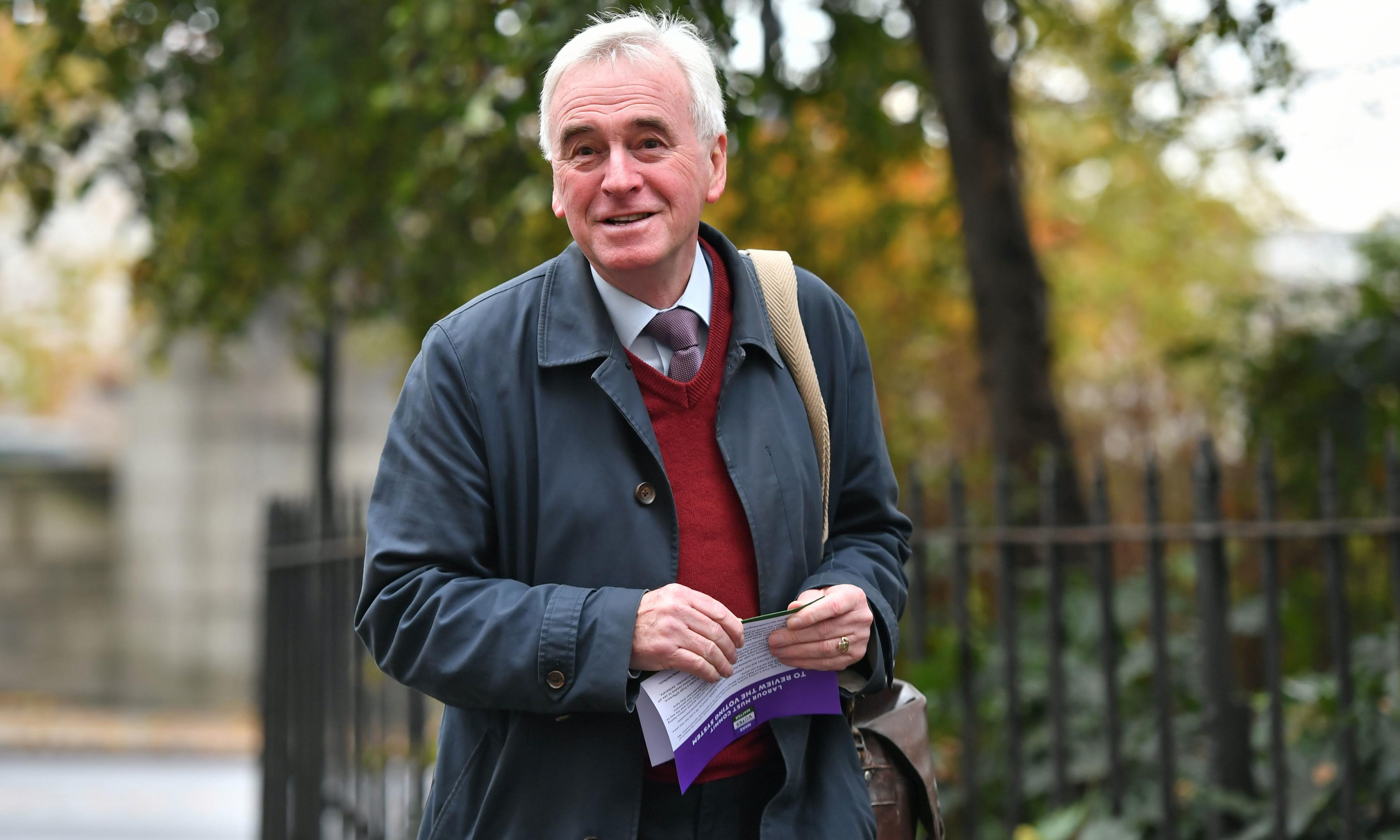 McDonnell: super-rich have misunderstood Labour's tax plans