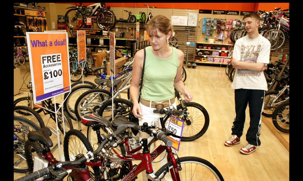 Halfords motorists and cyclists store, The Wyvern, Derby. Cycles for sale