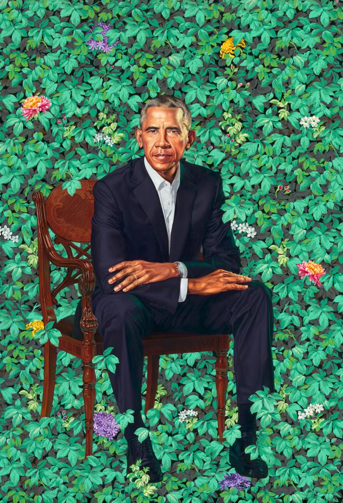 'Distant and formal' … Barack Obama by Kehinde Wiley.