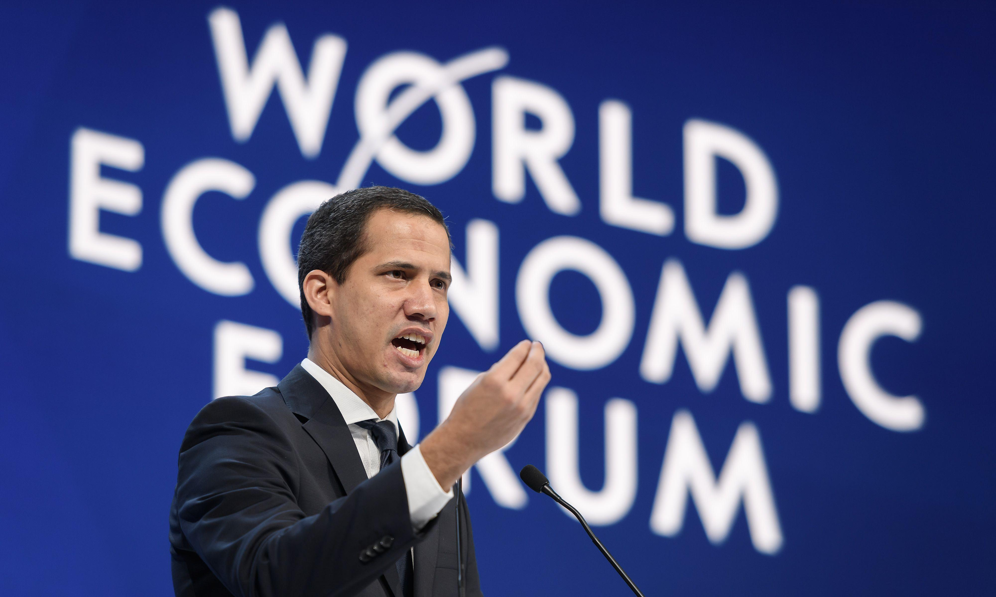 Venezuela opposition in Davos plea for help to overturn 'dictatorship'