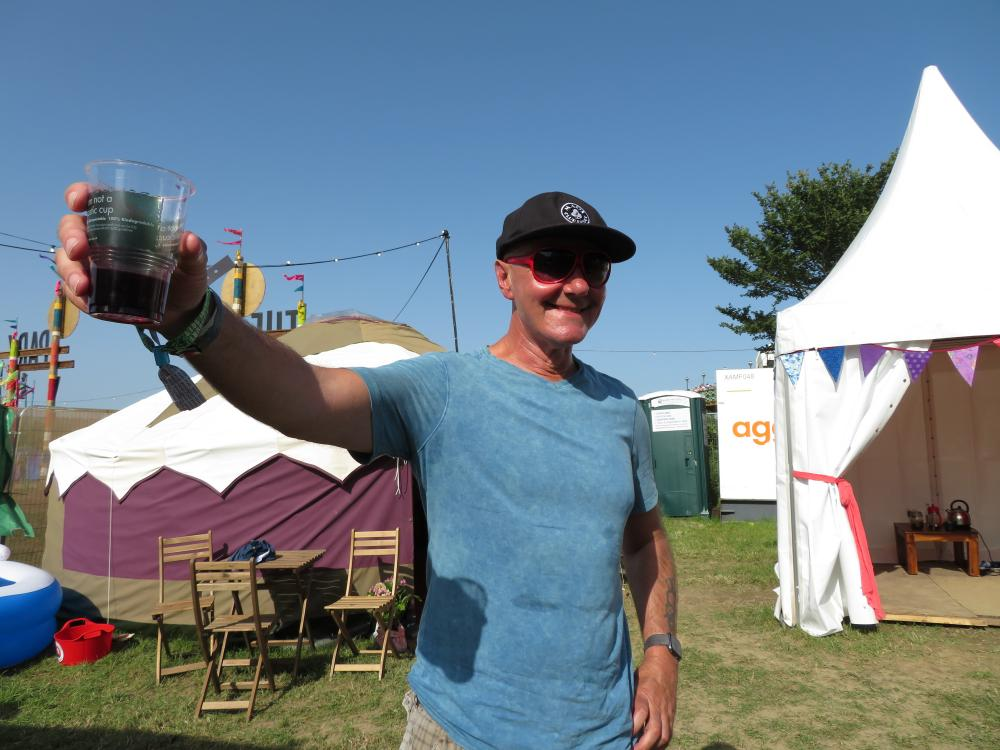Here's to music festivals … author Irvine Welsh.