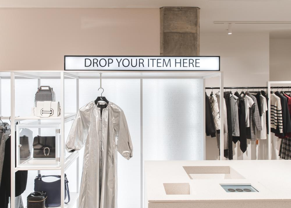 Vestiaire Collective secondhand clothing at Selfridges