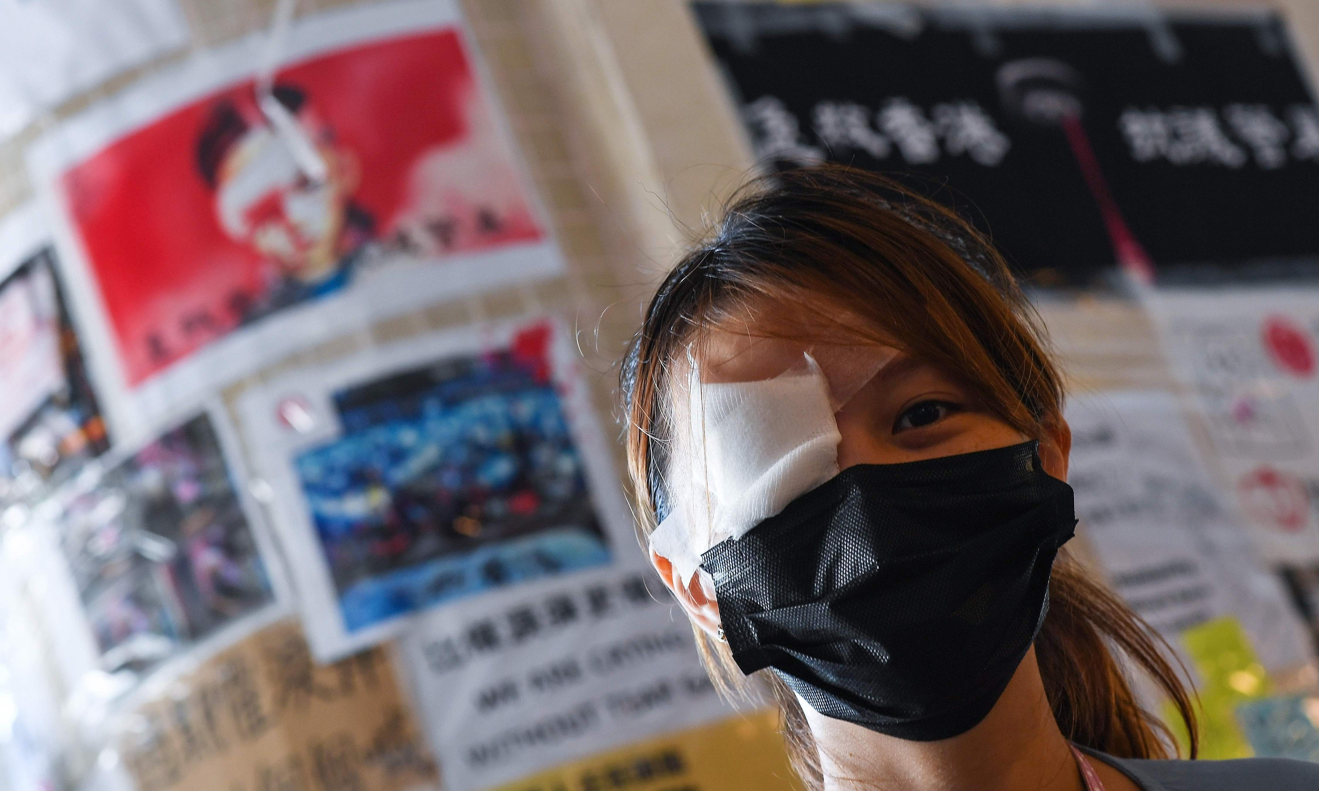 'An eye for an eye': Hong Kong protests get figurehead in woman injured by police