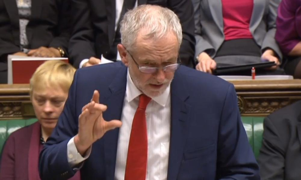 'Practically every cabinet minister is here today. Whatever has happened to the chancellor of the exchequer?' asked Jeremy Corbyn.