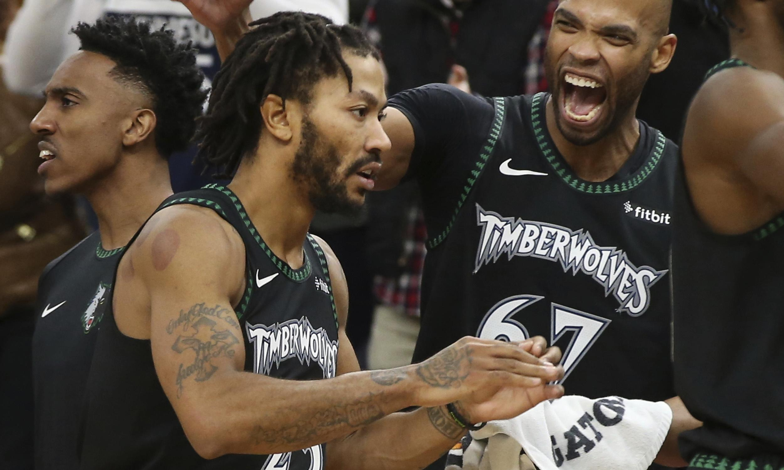 Derrick Rose left in tears after career-high 50 points in Timberwolves win