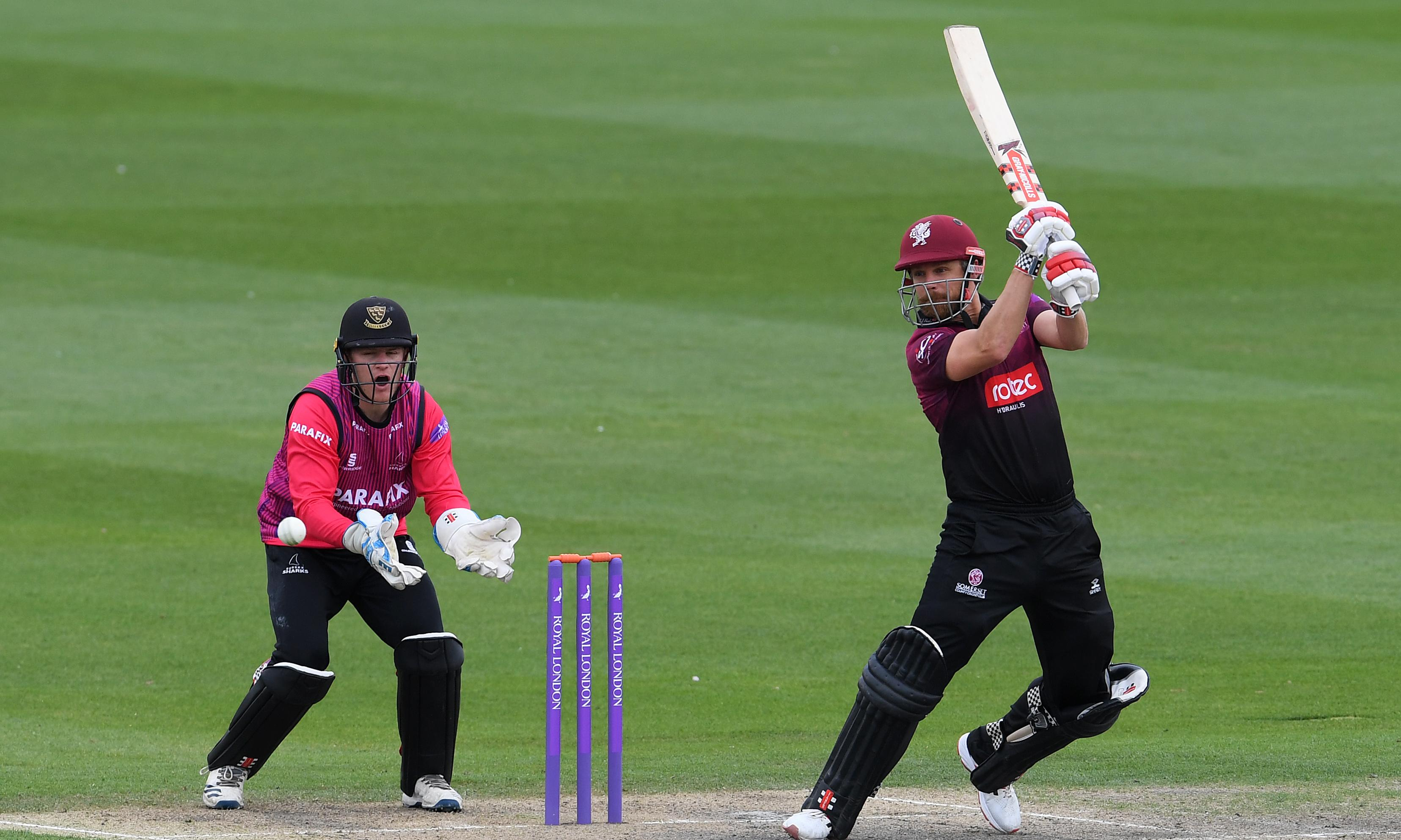 Somerset see off Sussex after rain curtails James Hildreth's big day