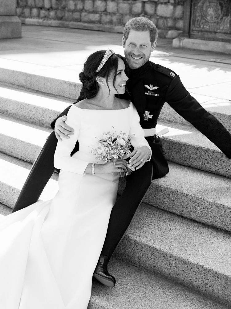 Official wedding photograph released by the Duke and Duchess of Sussex.