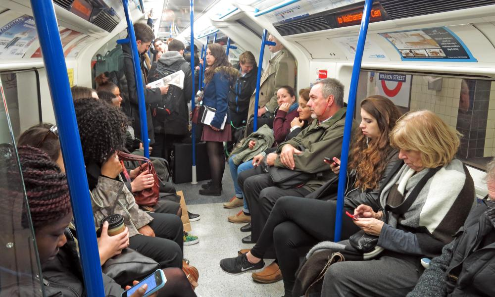 tube train passengers