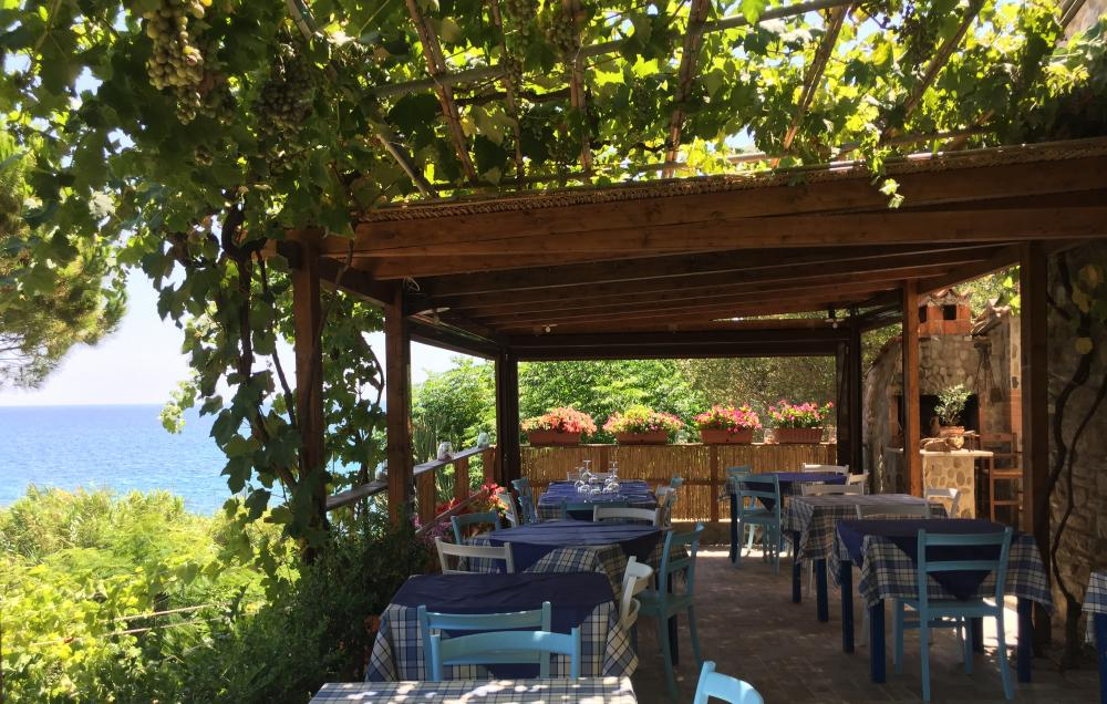 Terrace at A Casa di Delia restaurant.