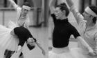 Principal dancers of the Birmingham Royal Ballet in rehearsal