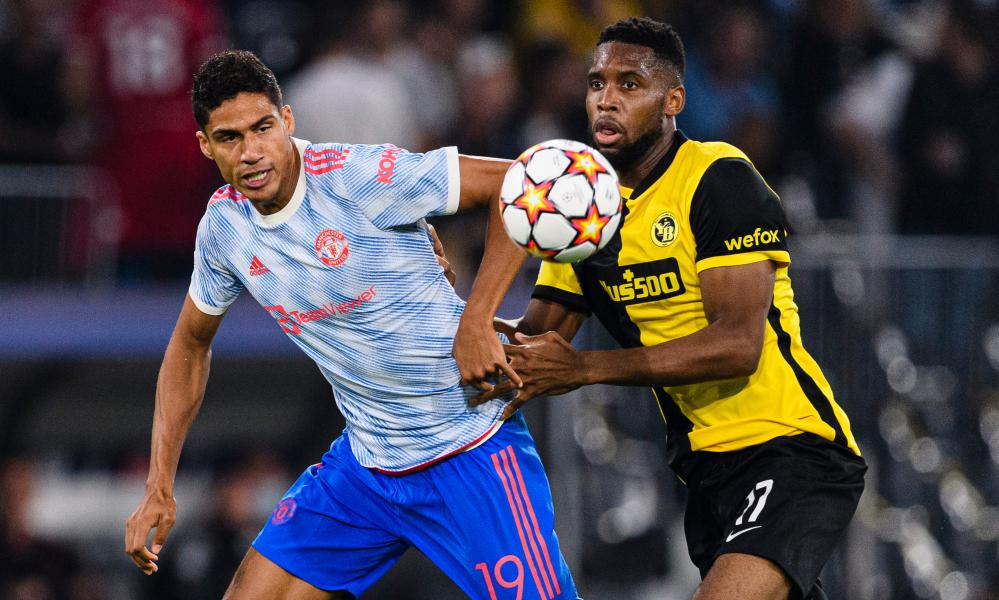 Bringing on Raphaël Varane (left) deprived Manchester United of outlets in midfield and set them up for a defensive rearguard.