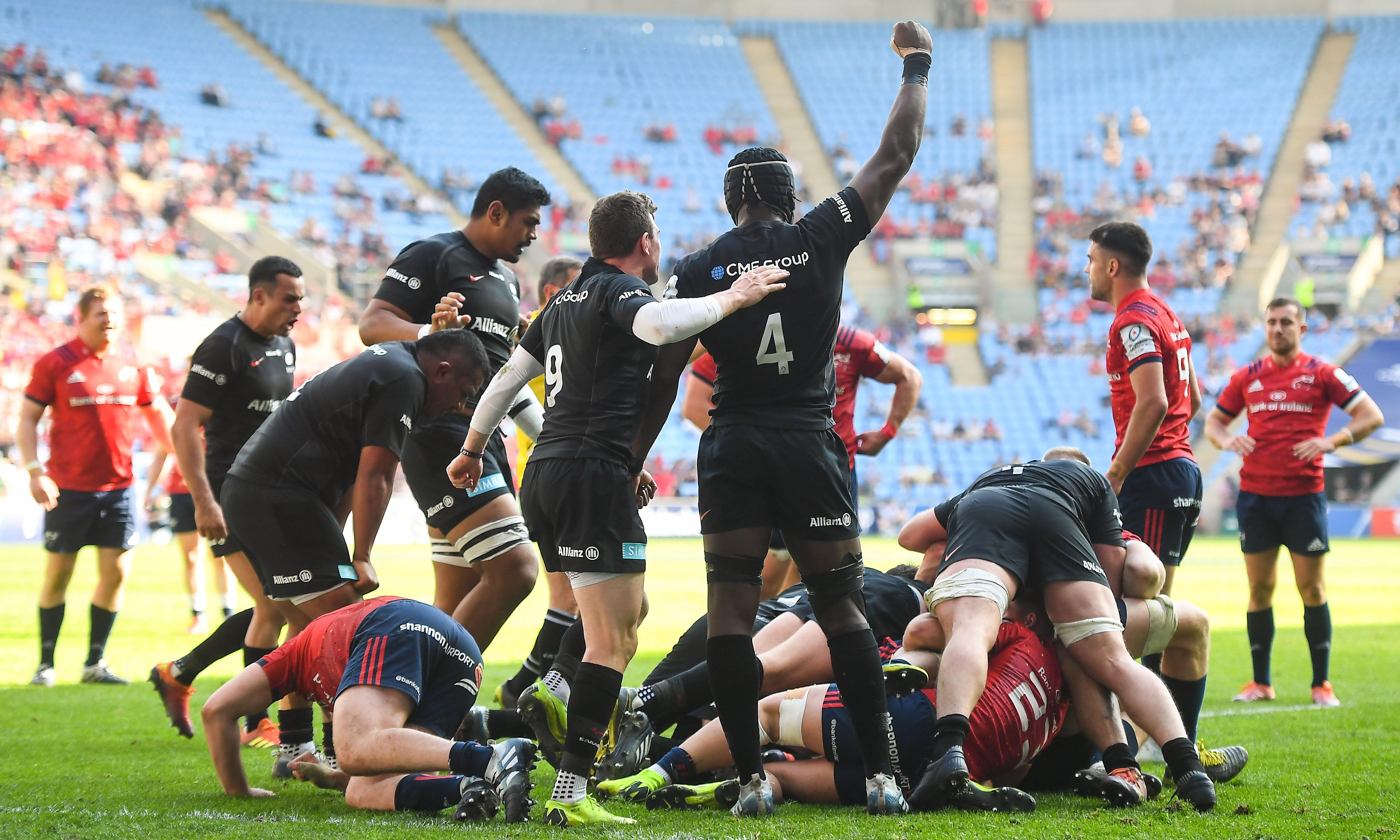 Billy Vunipola helps Saracens power past Munster into Champions Cup final