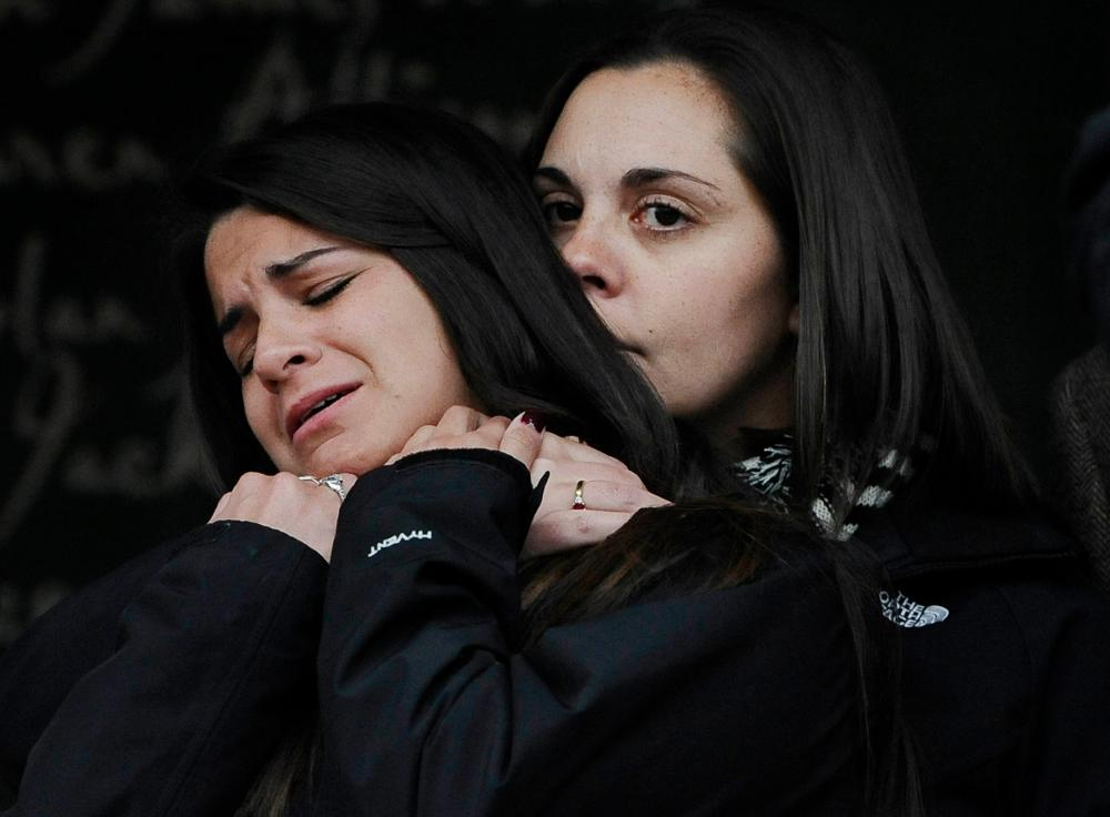 Erica Lafferty, daughter of Sandy Hook Elementary School Principal shooting victim, Dawn Hochsprung, and Carlee Soto, sister of victim Victoria Soto
